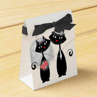 Cute Cats Hipster Bride And Groom Purrrfect! Favour Box