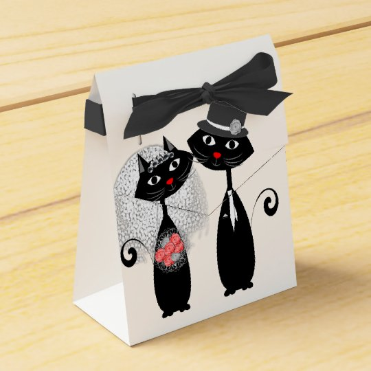Cute Cats Hipster Bride And Groom Purrrfect! Favour