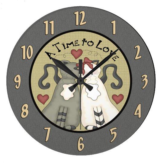 Cute Cats In Love Wall Clock