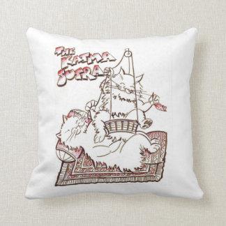 Cute cats katma sutra throw pillow