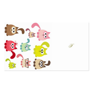 Cute cats,kid pattern,colorful,happy,fun,girly,tre pack of standard business cards