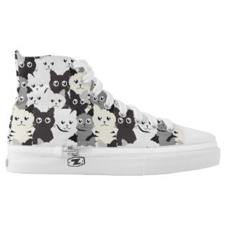 Cute cats pattern High Top Shoes