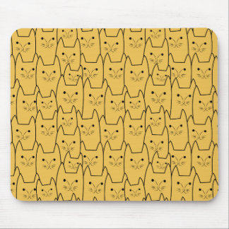 Cute cats pattern mouse mat