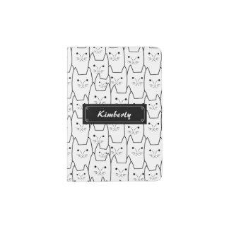 Cute cats pattern passport holder