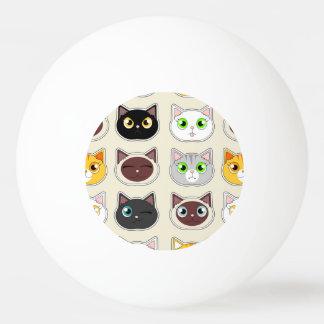 Cute Cats Pattern Ping Pong Ball