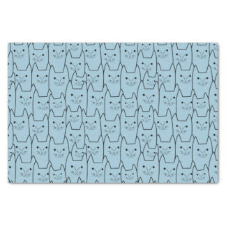 Cute cats pattern tissue paper
