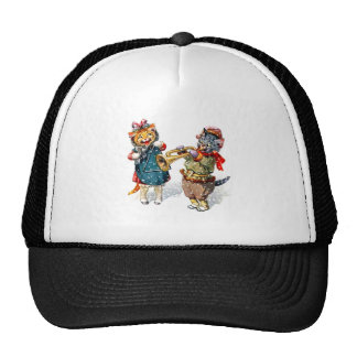 Cute Cats Play the Trumpet & Triangle in the Snow Cap