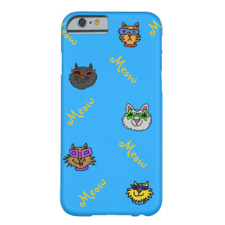 Cute cats wearing glasses colorful phone case