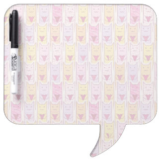 Cute Cats with Loving Hearts Dry-Erase Whiteboards
