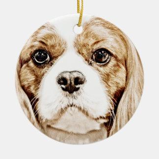 Cute Cavalier King Charles Spaniel Christmas Ornament