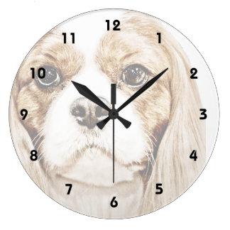 Cute Cavalier King Charles Spaniel Clock