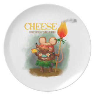 Cute Cave Mouse and The Cheese Plate