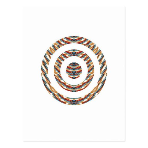 CUTE CHAKRA  Multiple Circle Pattern  LOWPRICE STR Postcard