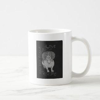Cute Chalk Drawing of Happy Spaniel Coffee Mug