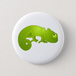 Cute Chameleon - Green 6 Cm Round Badge