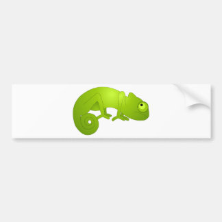 Cute Chameleon - Green Bumper Sticker