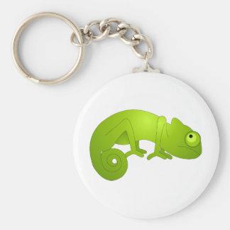 Cute Chameleon - Green Key Ring
