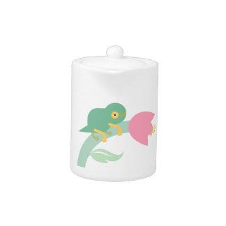 Cute Chameleon Plastic Container