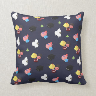 Cute Characters Pattern Pillow