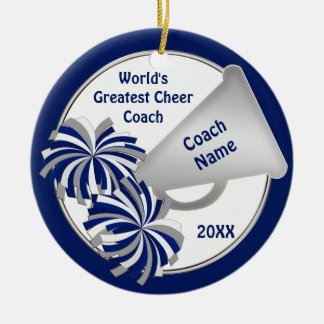 Cute Cheer Coach Gift Ideas PERSONALIZED Christmas Ornament
