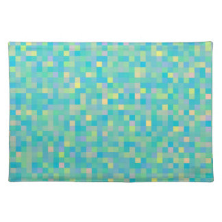 CUTE Cheerful Bright Multi-Color Square Pattern Placemat