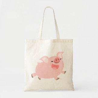 Cute Cheerful Cartoon Pig Bag