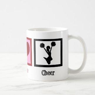 Cute Cheerleader Peace Love Basic White Mug