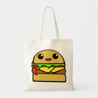 Cute Cheese Burger Character Budget Tote Bag