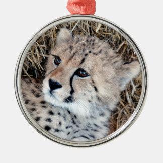 Cute Cheetah Cub Photo Christmas Ornament
