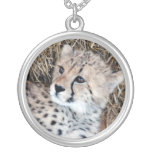 Cute Cheetah Cub Photo Personalised Necklace