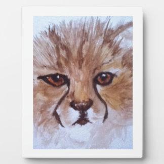 Cute cheetah plaque