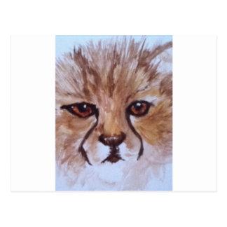 Cute cheetah postcards