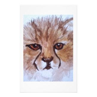 Cute cheetah stationery