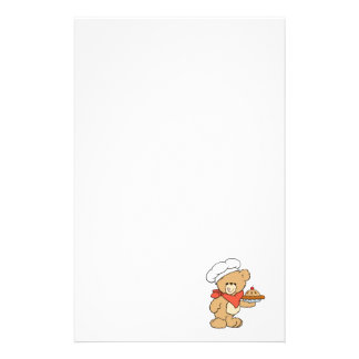Cute Chef Baker Bear Personalized Stationery