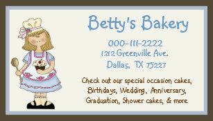 Home baker office supplies stationery zazzle cute chef business card coupon reheart Images