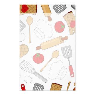 Cute Chef / Cook Love Pattern Custom Stationery