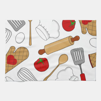 Cute Chef / Cook Love Pattern Hand Towel