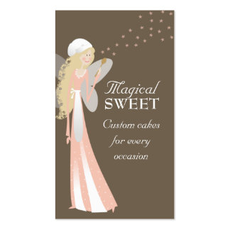 cute chef fairy cooking baking business cards
