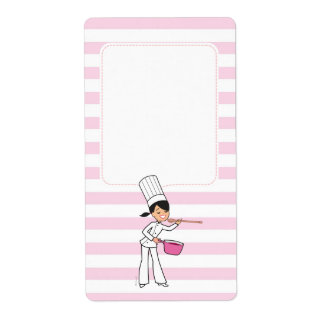 Cute Chef Motif Canning Jar Label Shipping Label