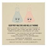 Cute Chemistry Wedding Invite