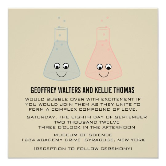 Cute Chemistry Wedding Invite