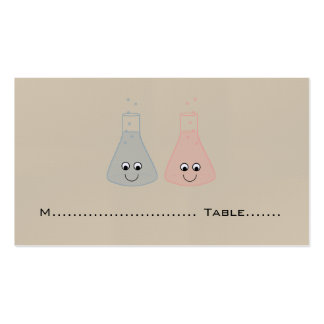 Cute Chemistry Wedding Place Cards Business Card Template