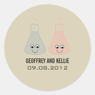 Cute Chemistry Wedding Stickers