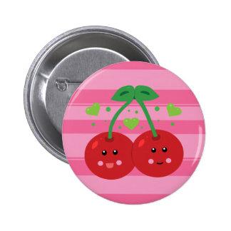 Cute Cherries 6 Cm Round Badge