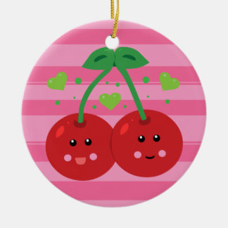 Cute Cherries Christmas Ornament