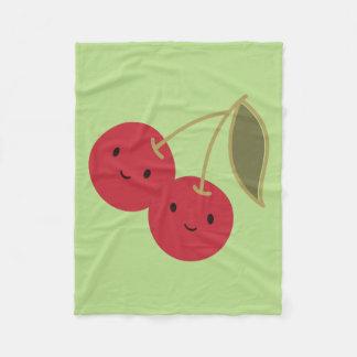 Cute Cherries Fleece Blanket