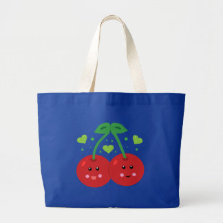 Cute Cherries Large Tote Bag