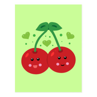 Cute Cherries Postcard