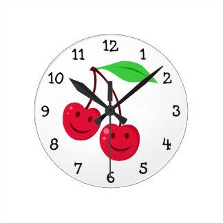 Cute Cherries Wall Clock