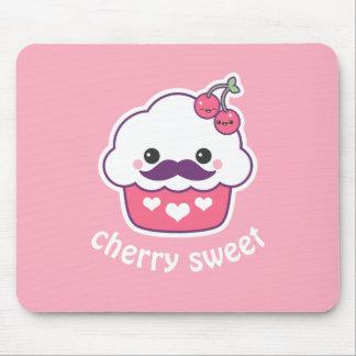 Cute Cherry Cupcake Mouse Mat